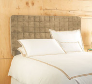Twin Sized Inflatable Upholstered Headboard: Taupe, Micro Suede, Air Pump Included