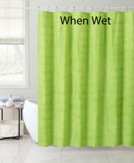 """Light Green Magic Fabric Shower Curtain Liner: City Names and Landmarks appears when wet, 72"""" x 72"""""""