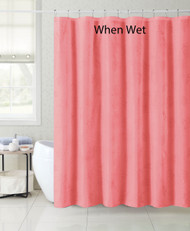 "Pink Coral Magic Fabric Shower Curtain Liner: Nautical Design appears when wet, 72"" x 72"""