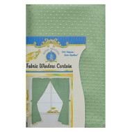 Sage Green Fabric Double Swag Window Curtain