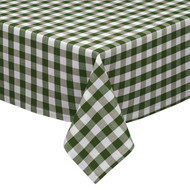 "Sage, Taupe and White Checkered Kitchen/Dining Room Tablecloth: Gingham/Plaid Design, Cotton Rich, 54""x72"", 58""x102"", 58""x84"" and 70""Round"