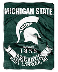 NCAA Michigan State Spartans Plush Raschel Blanket/Throw: Officially-Licensed, 60 x 80-Inch