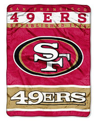 NFL San Francisco 49ers Plush Raschel Blanket/Throw: Officially-Licensed, 60 x 80