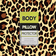 Leopard Animal Print Body Pillow Protector Cover/Case: 21in x 54in, Soft, Easy Care