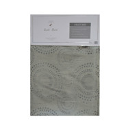 "Gray Fabric Shower Curtain with Geometrical Circle Design, 72"" x 72"""