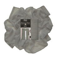 "Gray Sheer Voile Window Curtain Scarf: 55""W x 216""L, Fully Hemmed"