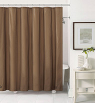 Chocolate PEVA 6 Gauge Shower Curtain Liner: Mildew Resistant, Chlorine Free, Odorless, Water-Repellent, Grommets and Magnets