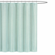 "Kensie Home Jane Textured Fabric Shower Curtain: Subtle Pinstripe with Sequins Accents, 70"" x 72"" inches (Spa Blue)"