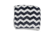"Navy Reversible Sherpa Plush Fleece Decorative Throw Blanket: Chevron Design, Soft and Plush, 50"" x 60"""
