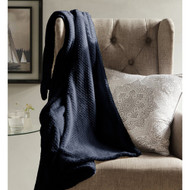 "Midnight Blue Fleece Plush Blanket: Ultra Soft, Non-Pilling, 50"" x 60"""