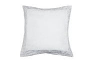 Home Maison Single (1) 100% Cotton Pure White Euro/Square Size Pillow Sham: Decorative Floral Scroll Stitch 26in x 26in (White)