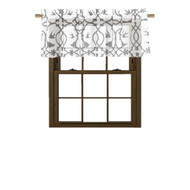 Bathroom and More Collection SHEER White Window Curtain Valance: Gray Bird, Flower & Vine Design (Single (1) Valance 56in W x 15in L)