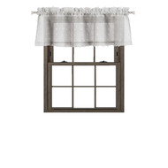 Bathroom and More Collection SHEER Silver/Light Gray Window Curtain Valance with 3-D Small Soft Tufts Design: 55in Wide X 15in Long (Single (1) Valance 56in W x 15in L)