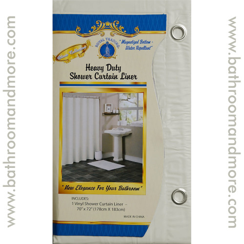 Beige Vinyl Shower Curtain Liner