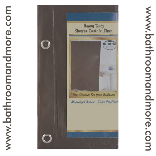 Brown Vinyl Shower Curtain Liner Bathroom And More