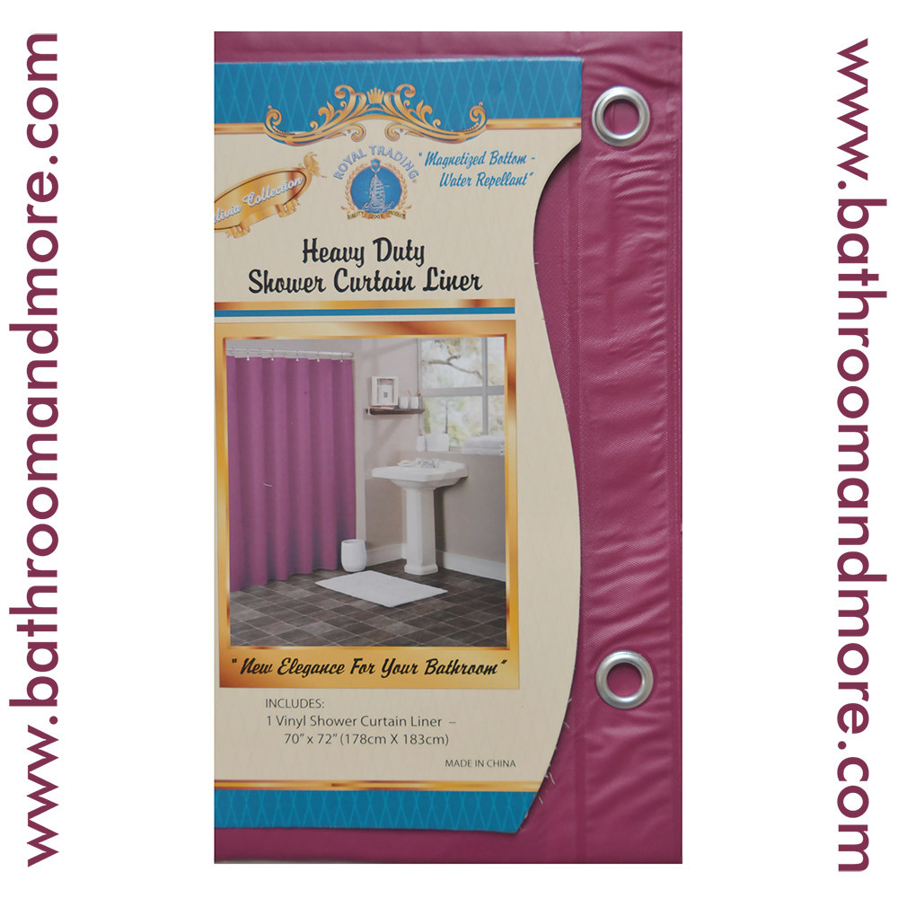 Burgundy vinyl shower liner Addon