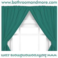 Evergreen two panel vinyl bathroom window curtain.