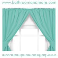 Jade Green two panel vinyl window curtain.