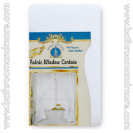 White Fabric Double Swag Window Curtain