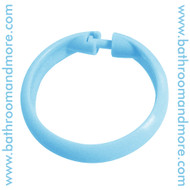 Blue Plastic Shower Curtain Ring