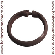 Brown plastic shower curtain ring