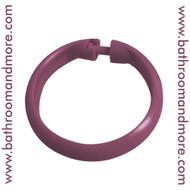 Burgundy red plastic shower curtain rings