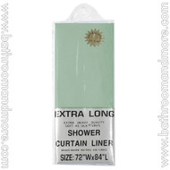 "Sage Green Heavy Duty 5 Gauge Vinyl Shower Curtain Liner 72""x84"""
