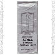 "Super Clear Heavy Duty 5 Gauge Vinyl Shower Curtain Liner 54""x78"""