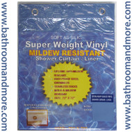 "Blue Extra Heavy Duty 10 Gauge Vinyl Shower Curtain Liner 72""x72"""
