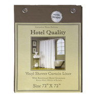 "Brown Hotel Weight 8 Gauge Shower Curtain Liner 72""x72"""