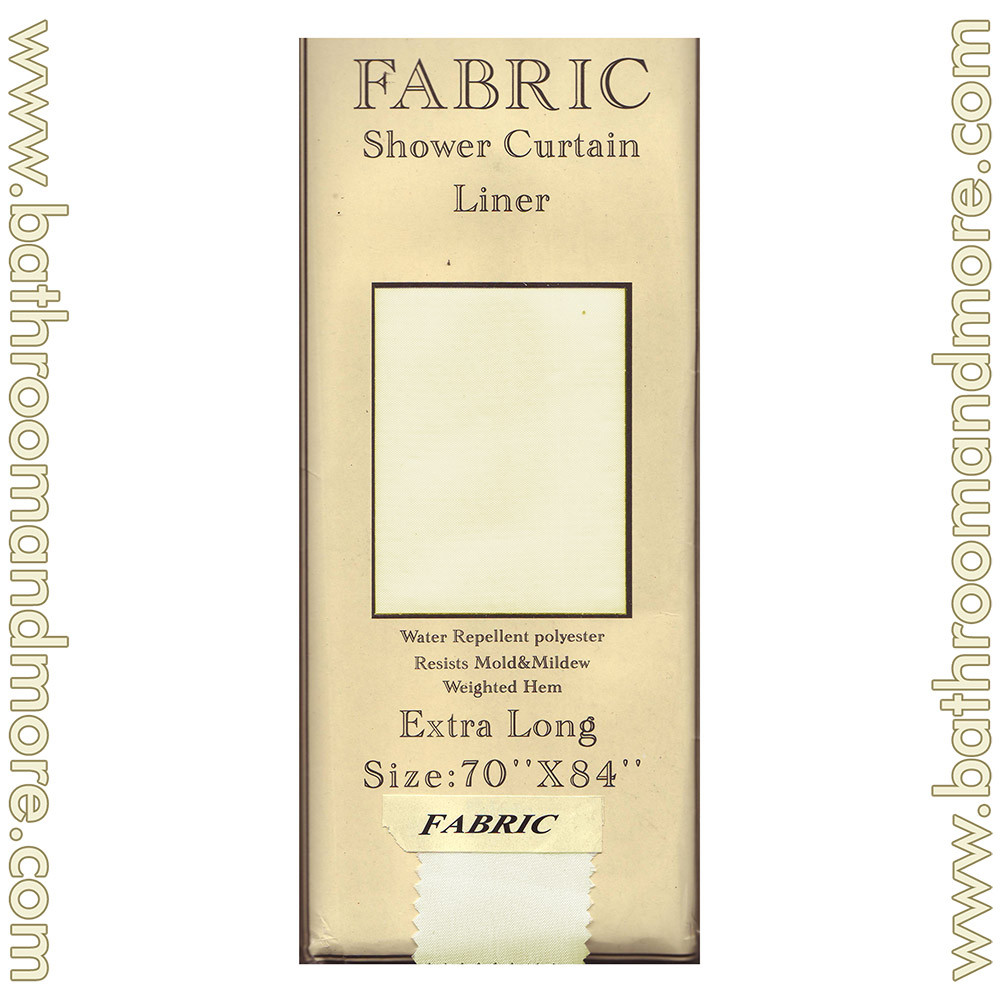Extra Long Carnation Fabric Shower Curtain Liner Ivory 70 X84 Bathroom And More