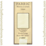 """Extra Long Carnation Fabric Shower Curtain Liner Ivory 70""""x84"""""""