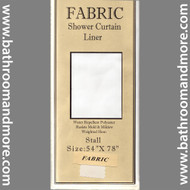 Stall Size 54 inch fabric shower liner.
