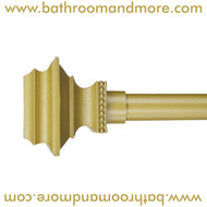 Gold Pedestal Finials Adjustable Curtain Rod With Hardware- Accessories Sold Separately