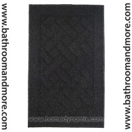 Black home dynamix floor mat area rug
