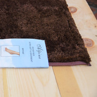Home Dynamix Alpine Chocolate Brown Bath Mat- Absorbent and Ultra Plush, Non skid backing
