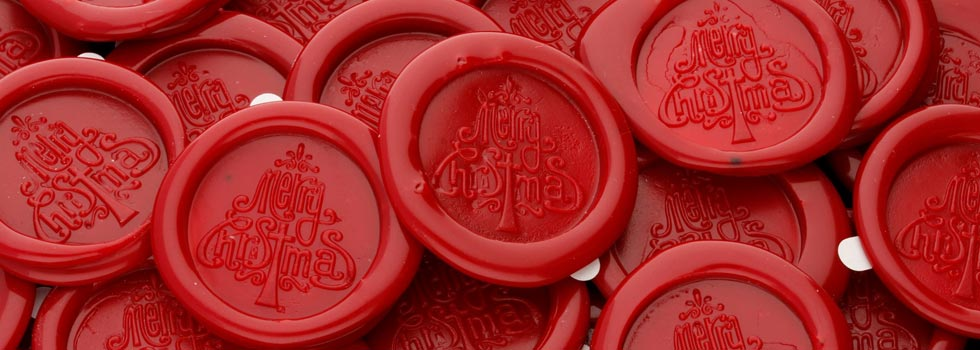 Merry Christmas Peel N Stick wax seals Special Offer
