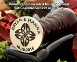 Celtic D7 Wax Seal, additional text extra