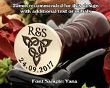 Celtic D8 Wax Seal - text extra, sample font Yana