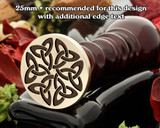 Celtic D16 Wax Seal - larger size if adding your own text