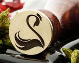 Swan Wax Seal Stamp Reverse Engraved