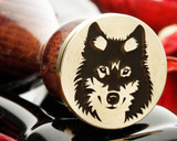 Wolf D6 on Round Wax Seal Stamp