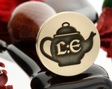Teapot wax seal stamp, initials extra fee