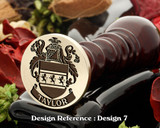 Taylor Family Crest Wax Seal D7