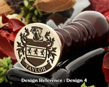 Taylor Family Crest Wax Seal D4