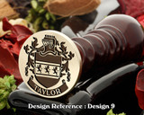 Taylor Family Crest Wax Seal D9