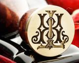 HL LH D2 Victorian Monogram Wax Seal