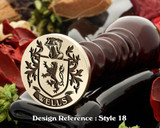 Wells Family Crest Wax Seal D18
