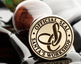 CHRISTMAS - OFFICIAL SEAL SANTAS WORKSHOP MONOGRAM D3