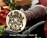 White Family Crest Wax Seal D23